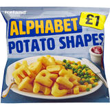 Iceland Alphabet Potato Shapes 550g