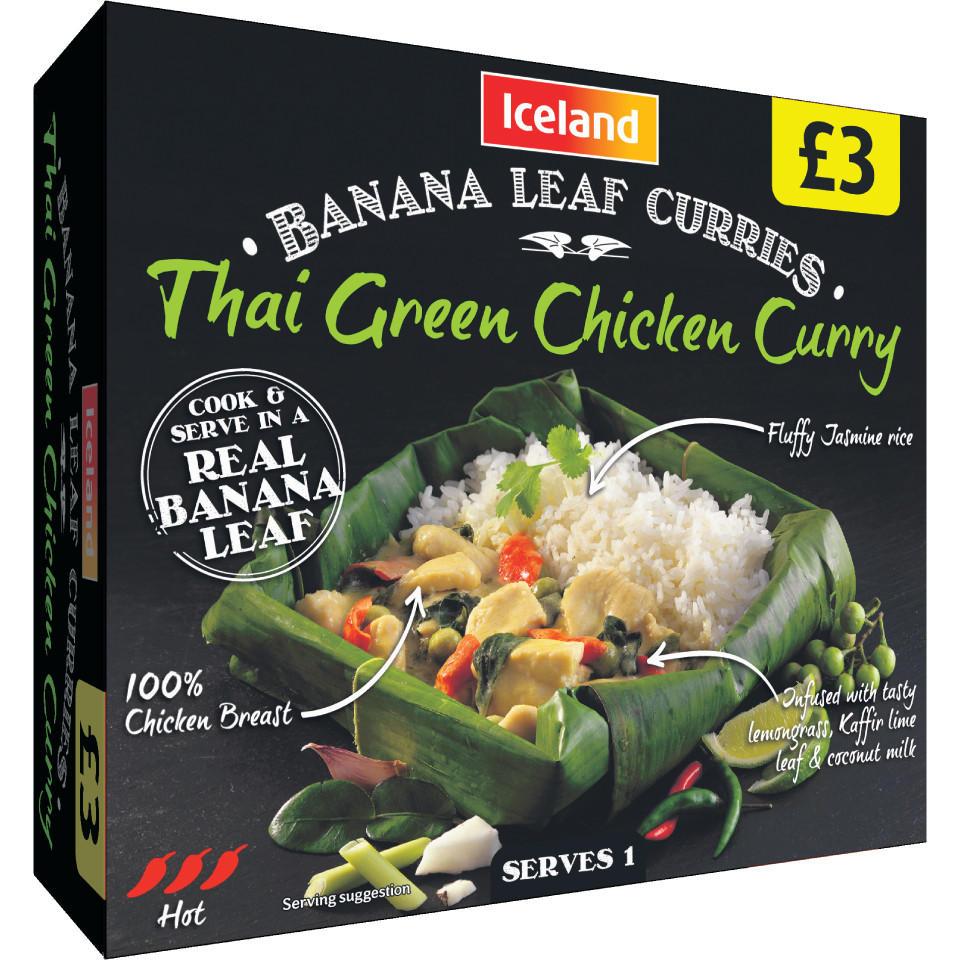 Iceland Banana Leaf Curries Thai Green Chicken Curry 500g