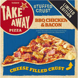 Iceland BBQ Chicken & Bacon Cheese Stuffed Crust Pizza 460g
