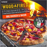 Iceland BBQ Chicken & Bacon Stonebaked Pizza 389g