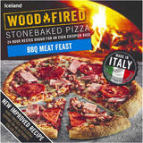 Iceland BBQ Meat Feast Stonebaked Pizza 380g