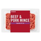 Iceland Beef & Pork Mince 375g
