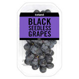 Iceland Black Seedless Grapes 500g