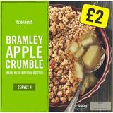 Iceland Bramley Apple Crumble 500g