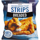 Iceland Breaded Chicken Breast Fillet Strips 600g