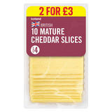 Iceland British 10 Mature Cheddar Cheese Slices 250g