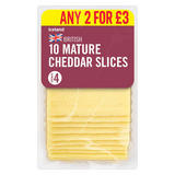 Iceland British 10 Mature Cheddar Slices 250g