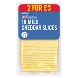 Iceland British 10 Mild Cheddar Cheese Slices 250g