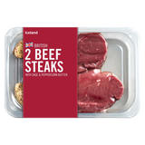 Iceland British 2 Beef Steaks with Sage & Peppercorn Butter