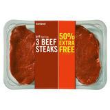 Iceland 3 Beef Steaks 405g