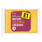 Iceland British Coloured Mature Cheddar Cheese 180g