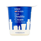 Iceland British Fresh Double Cream 300ml