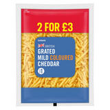 Iceland British Grated Mild Coloured Cheddar Cheese 250g