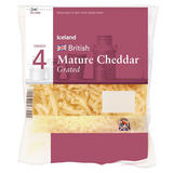 Iceland British Mature Cheddar Grated Cheese 250g