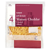 Iceland British Mature Cheddar Grated Coloured Cheese 250g