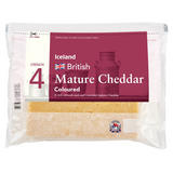 Iceland British Mature Coloured Cheddar Cheese 400g