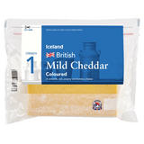 Iceland British Mild Cheddar Coloured Cheese 400g
