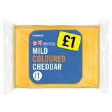 Iceland British Mild Coloured Cheddar Cheese 180g
