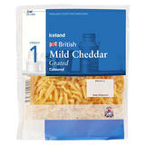 Iceland British Mild Coloured Grated Cheddar Cheese 250g