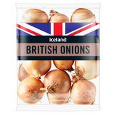 Iceland British Onions 1kg