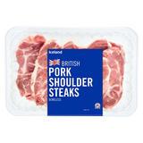 Iceland British Pork Shoulder Steaks Boneless 600g