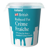 Iceland British Reduced Fat Crème Fraîche 300ml