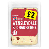Iceland British Wensleydale & Cranberry Cheese 200g