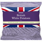 Iceland British White Potatoes 2Kg