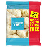Iceland Cauliflower Florets 25% Extra Free 1.01kg