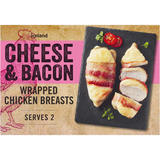 Iceland Cheese & Bacon Wrapped Chicken Breasts 380g
