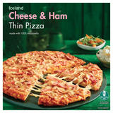 Iceland Cheese & Ham Thin Pizza 327g