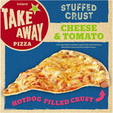Iceland Cheese and Tomato Hot Dog Stuffed Crust Pizza 531g