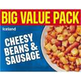 Iceland Cheesy Beans and Sausage 500g