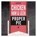 Iceland Chicken, Ham & Leek Proper Pie 220g
