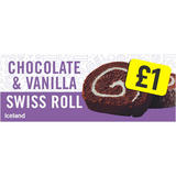 Iceland Chocolate & Vanilla Swiss Roll 300g
