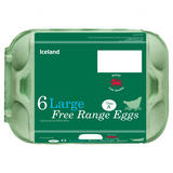 Iceland Class 'A' 6 Large Free Range Eggs