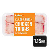 Iceland Class A Fresh Chicken Thighs with Skin on 1.15kg