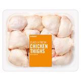 Iceland Class A Fresh British Chicken Thighs with Skin on 4kg