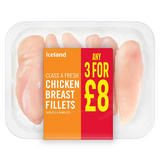 Iceland Class a Fresh Chicken Breast Fillets 450g