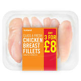 Iceland Class A Fresh Chicken Breast Fillets Skinless & Boneless 450g