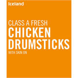 Iceland Class A Fresh Chicken Drumsticks with Skin on 4kg