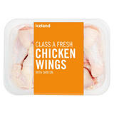 Iceland Class A Fresh Chicken Wings with Skin on 400g