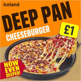 Iceland Deep Pan Cheeseburger Pizza 379g