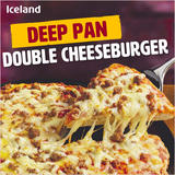 Iceland Deep Pan Double Cheeseburger 340g