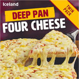 Iceland Deep Pan Four Cheese - Twin Pack 730g