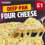 Iceland Deep Pan Four Cheese 365g