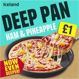 Iceland Deep Pan Ham and Pineapple Pizza 404g