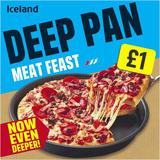Iceland Deep Pan Meat Feast 376g