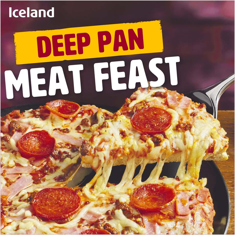 Iceland Deep Pan Meat Feast 385g Deep Pan Pizza Iceland