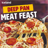 Iceland Deep Pan Meat Feast Pizza 385g